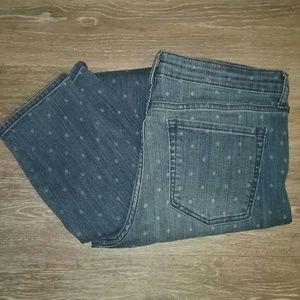 Gap 1969 Jeans Premium Super Skinny Polka Dot High